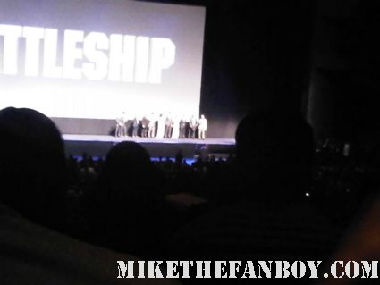 inside the battleship premiere with the cast live on stage rare promo rihanna liam neeson