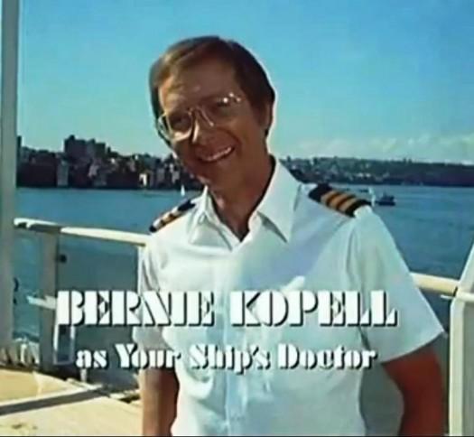 bernie kopell rare press promo still the love boat ship's doctor title card doctor on love boat