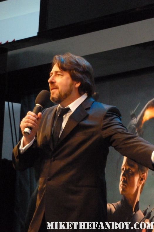 Kevin Fliege doing an interview at the avengers uk world movie premiere red carpet rare promo