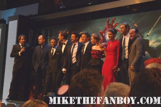 the avengers cast assembled at the uk world movie premiere red carpet black widow iron man