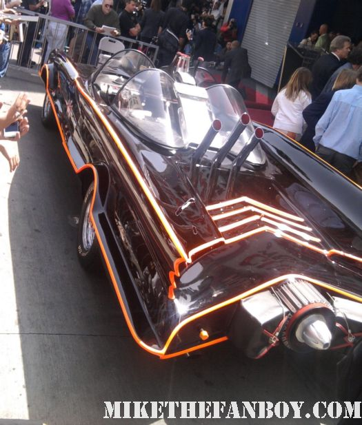 the original 1960's batmobile from Adam west's walk of fame star ceremony report