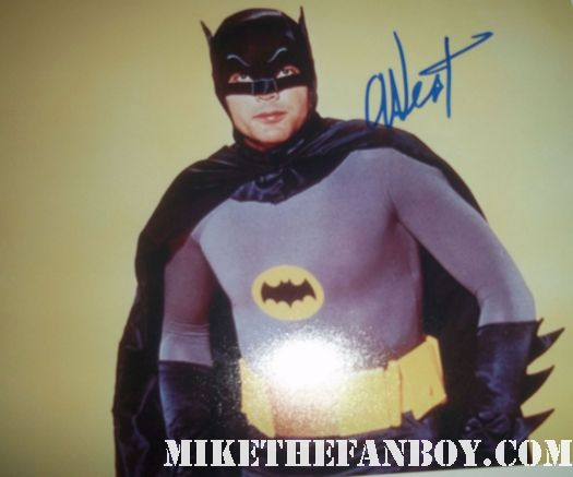 adam west signed autograph batman photo rare promo hot rare 1960's batman signed autograph photo