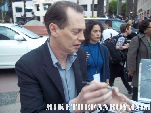 boardwalk empire star steve buscemi signing autographs for fans at the television academy event in north hollywood fargo star rare promo