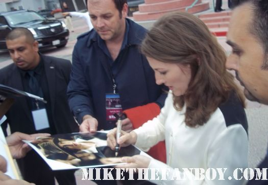 boardwalk empire star kelly macdonald signing autographs for fans at the television academy event in north hollywood fargo star rare promo hot sexy trainspotting