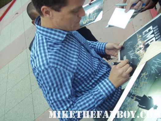 boardwalk empire star michael shannon  signing autographs for fans at the television academy event in north hollywood fargo star rare promo