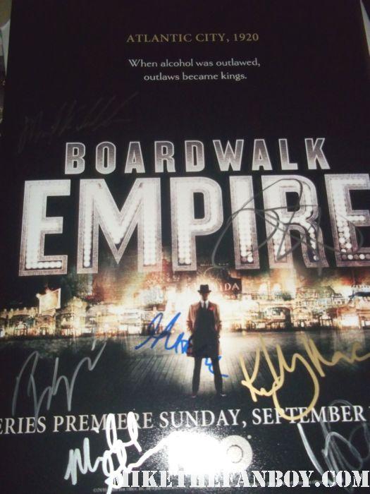 boardwalk empire signed autograph steve buscemi rare promo kelly macdonald rare promo photo poster rare promo michael stuhlberg vincent piazza
