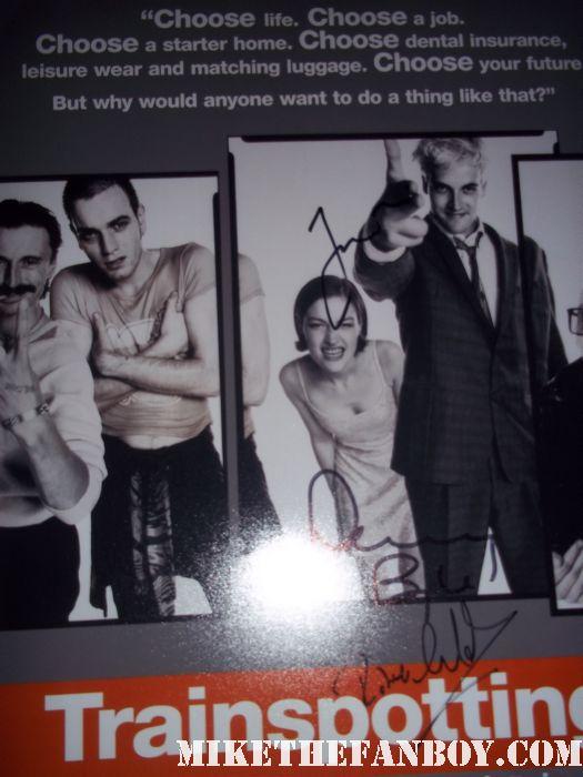 jonny lee miller signed autograph trainspotting promo mini poster rare promo hot sexy sick boy danny boyle robert carlysle