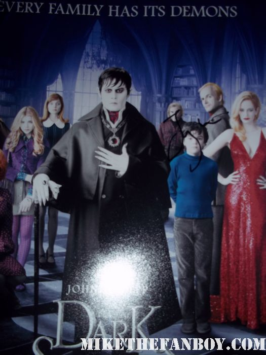 jonny lee miller signed autograph dark shadows promo mini poster rare promo hot sexy