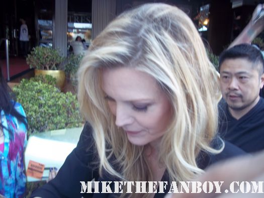 michelle pfeiffer signing autographs for fans at the dark shadows press junket in santa monica california grease 2 catwoman batman returns age of innocence
