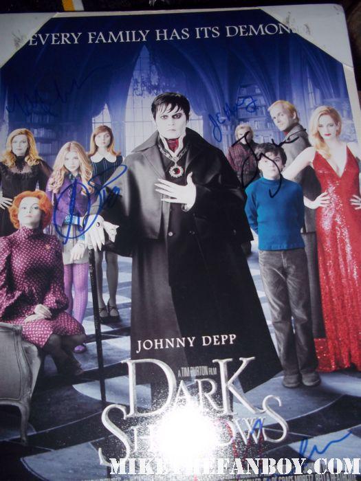 Chloë Grace Moretz signed autograph dark shadows rare promo mini movie poster kick ass hit girl rare