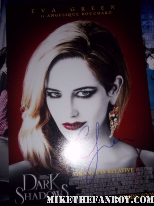 dark shadows eva green signed autograph promo individual promo poster promo hot sexy witch