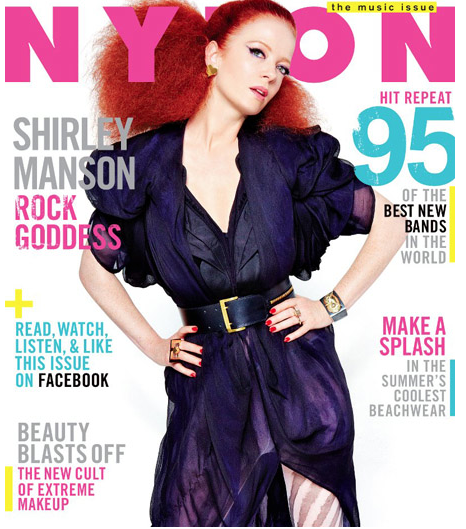 shirley manson's second cover of the june 2012 issue of nylon magazine hot magazine cover I love those redhead's hot sexy garbage not your kind of people