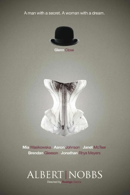 albert_nobbs rare promo teaser one sheet movie poster promo glenn close hat corsett
