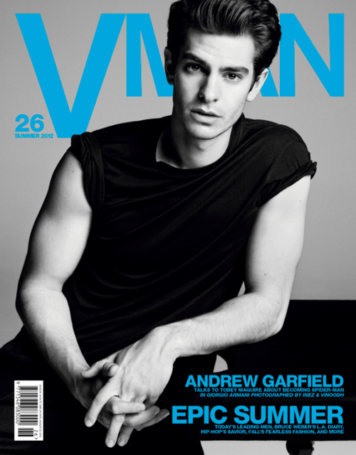 andrew-garfield-v-man-0612- (8) andrew garfield hot and sexy shirtless naked v man magazine cover photo shoot the amazing spider man rare promo photo press still muscle flex bicep