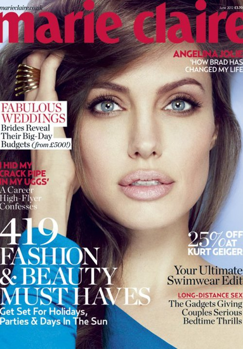 angelina-jolie-marie-claire-uk-0612 Angelina Jolie covers the june 2012 issue of Marie Claire u magazine hot sexy photo shoot salt tomb raider rare promo sexy damn fine rare promo