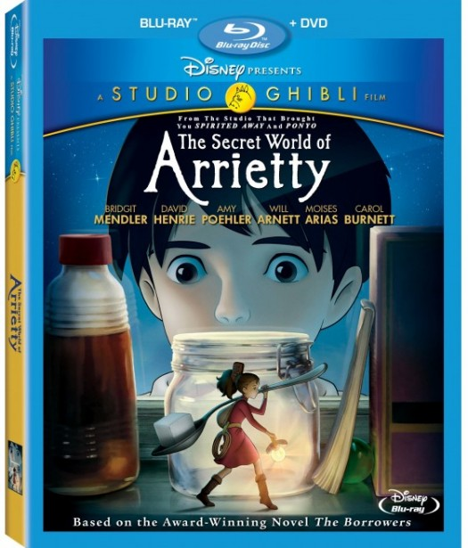 the secret world of arrietty dvd and blu ray cover rare promo disney Hayao Miyazaki director rare promo cover art