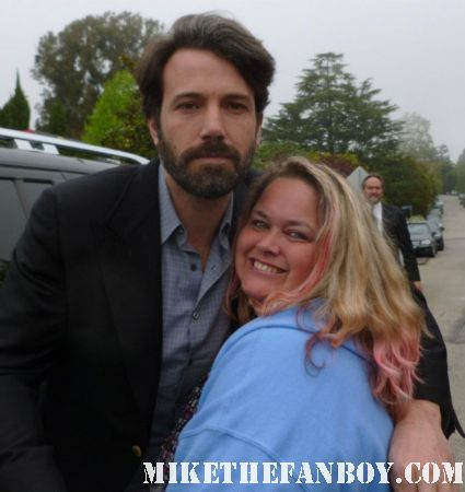 ben affleck poses for a fan photo with pinky lovejoy at a charity event hot sexy dazed and confused star the twon rare promo