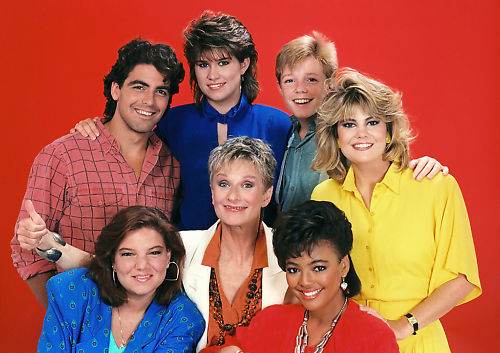 george clooney cloris leachman rare facts of life season 8 cast photo rare red promo press still nbc lisa whelchel mindy cohen kim fields nancy mckeon