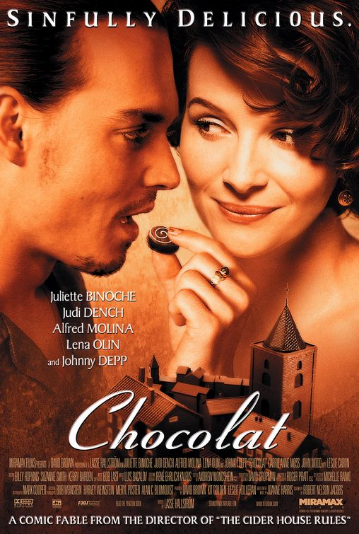 chocolat rare promo one sheet movie poster juliet binoche johnny depp rare foreign film poster