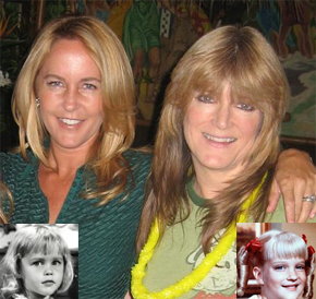 Erin Murphy (Tabitha) with Susan Olsen (Cindy Brady)  from Bewitched and the brady bunch rare hot promo