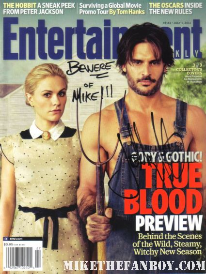 Joe Manganiello signed autograph entertainment weekly magazine cover rare promo sexy true blood star signing autographs at the what to expect when you're expecting world movie premiere hot alcide