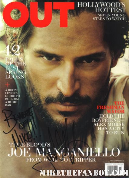Joe Manganiello signed autograph out magazine cover rare promo sexy true blood star signing autographs at the what to expect when you're expecting world movie premiere hot alcide