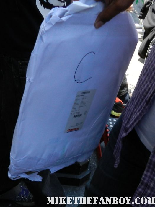 CB's waterlogged envelope full of crappy posters that got ruined at the dark shadows movie premiere