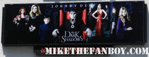 the sign for the dark shadows world movie premiere johnny depp michelle pfeiffer tim burton rare promo