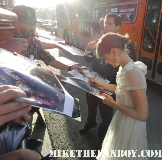 Bella Heathcote signing autographs at the dark shadows world movie premiere rare promo hot sexy starlet