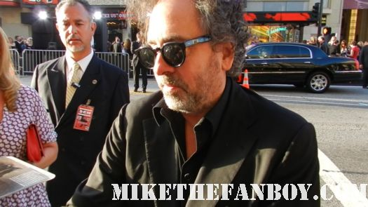 tim burton signing autographs at the dark shadows world movie premiere mars attacks sleepy hollow