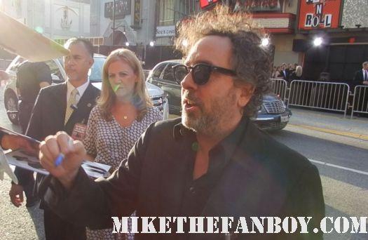 tim burton signing autographs at the dark shadows world movie premiere mars attacks sleepy hollow