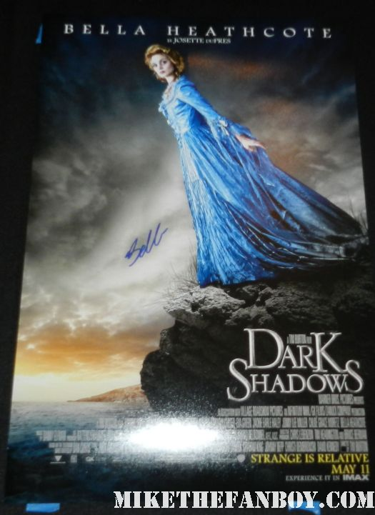 bella heathcote signed autograph dark shadows rare promo individual promo movie poster promo