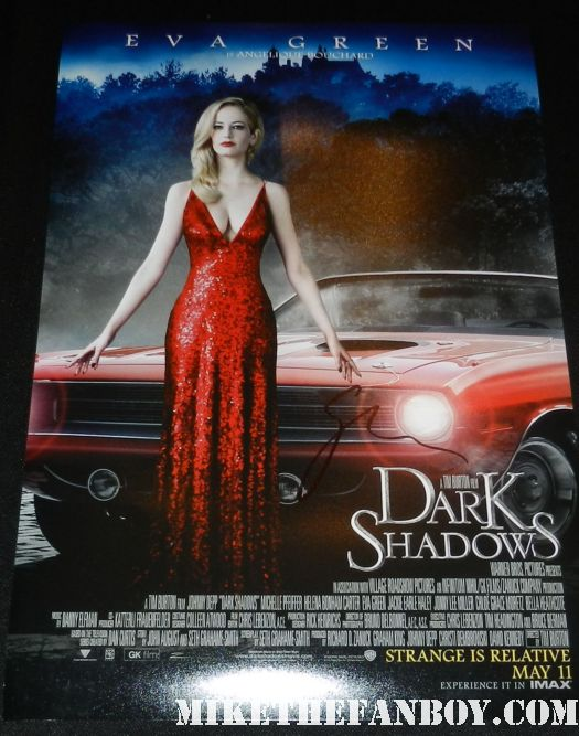 eva green signed autograph rare promo dark shadows promo mini movie poster hot sexy witches