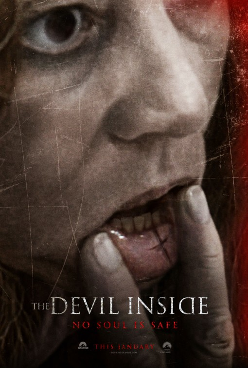 the devil inside rare promo pne sheet movie poster promo hot sexy reality found footage movie