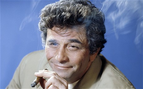 peter falk promo press still columbo hot rare detective fedora rumpled suit hot cigar dancer