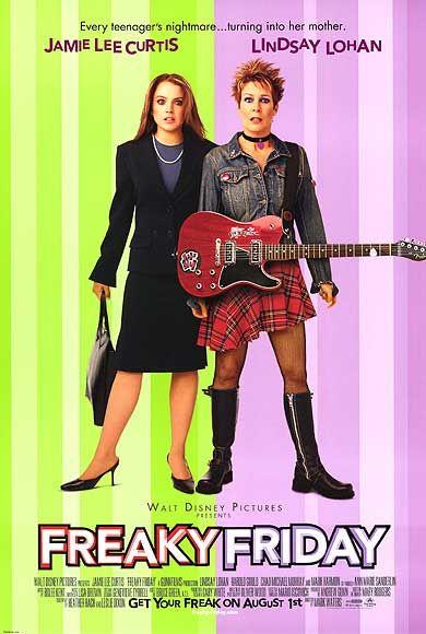 freaky_friday rare one sheet movie poster promo lindsay lohan jamie lee curtis hot rare disney movie