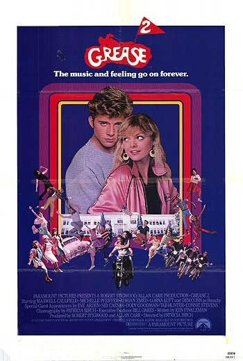 grease_2 rare one sheet movie poster promo maxwell caulfield michelle pfeiffer rare movie poster