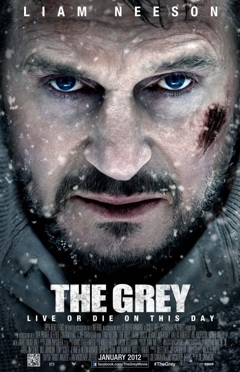 grey liam neeson one sheet movie poster promo rare hot wolf promo