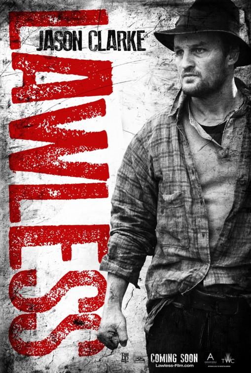 lawless_ver2 jason clarke rare promo individual lawless promo one sheet movie poster promo