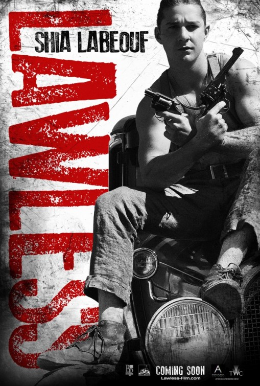 lawless_ver4 shia labeouf rare promo one sheet movie poster promo individual shirtless muscle shirt tank top hot