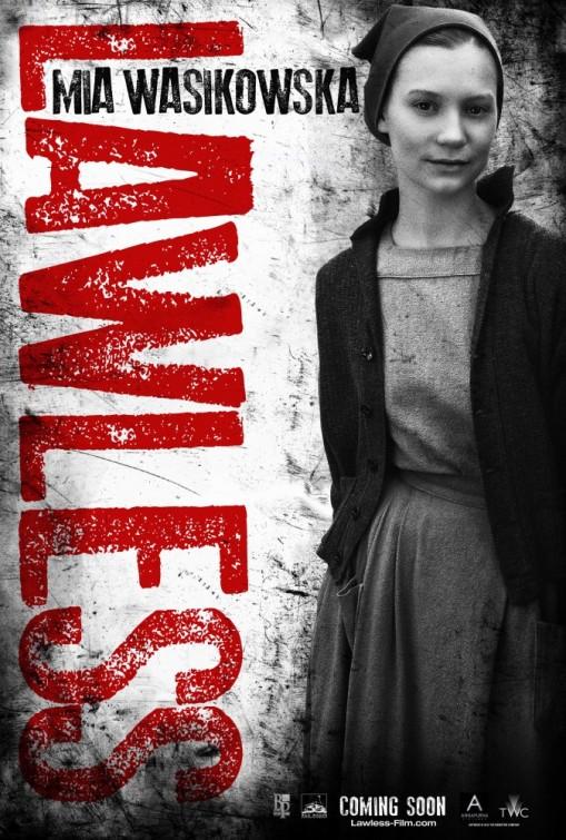 lawless_ver7 mia wasikowska rare lawless promo one sheet individual promo movie poster promo hot