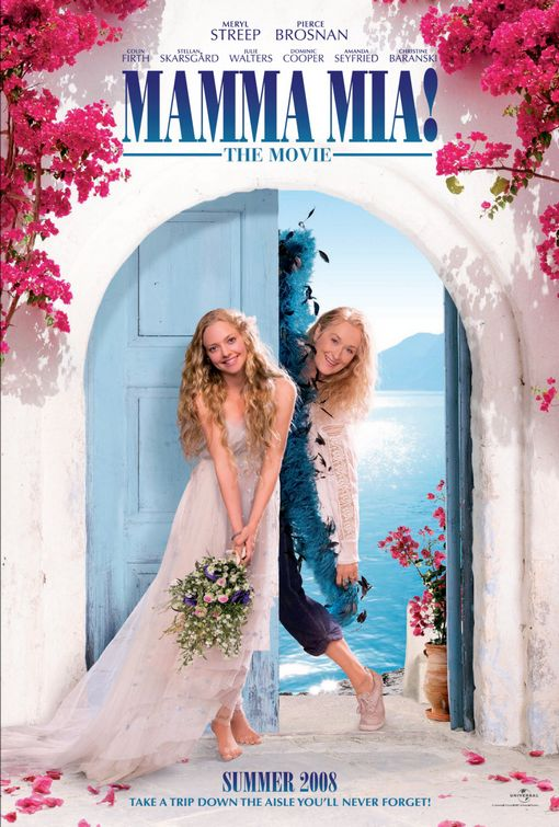 mamma_mia rare promo one sheet teaser movie poster promo rare amanda seyfried meryl streep