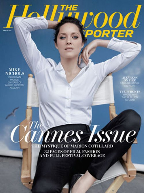 marion-cotillard covers the hollywood reporter magazine cover hot sexy june 2012 issue rare promo dark knight rises hot sexy inception