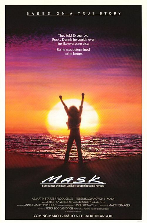 mask one sheet movie poster one sheet eric stoltz cher mother's day films from the 1980's rare