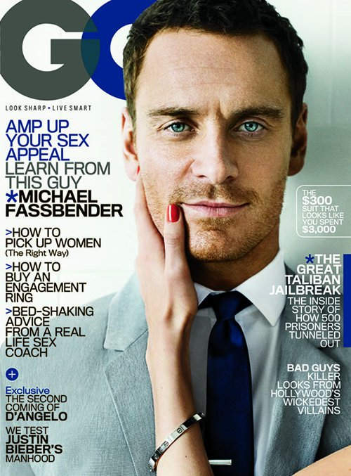 michael-fassbender-gq-0612- (2) Michael fassbender on the cover of the june 2012 issue of gq magazine sexy shame star hot sexy photoshoot naked rare promo prometheus
