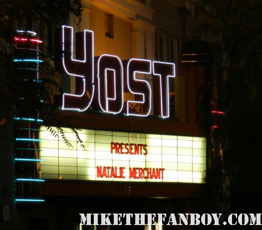 the yost theater marquee in santa ana ca before the natalie merchant concert may 2012 rare promo