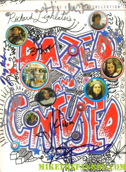 parker posey signed autograph dazed and confused criterion dvd Jason London, Rory Cochran, Ben Affleck, Matthew McConaughey , Joey Lauren Adams and Ms. Posey