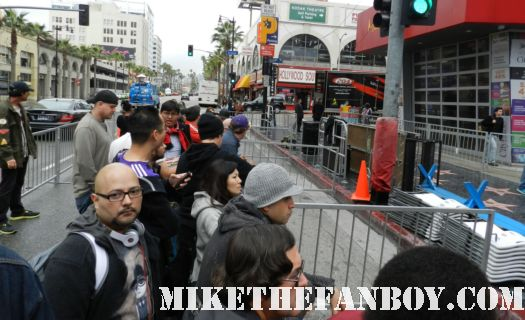 the crowd waiting for the walk of fame star ceremony Scarlett Johansson Walk of Fame Star Ceremony Report! Chaos, Bloodshed, and My We Bought a Zoo Poster Gets Autographed! All In a Day's Work!