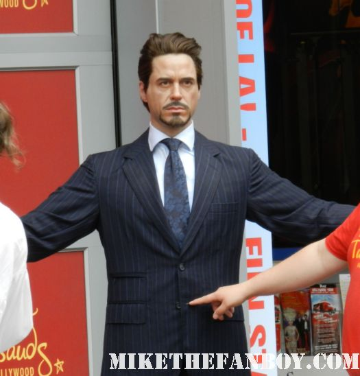 the wax figure of iron man aka tony stark at madame toussauds in hollywood a chubby captain america on the hollywood walk of fame star ceremony Scarlett Johansson Walk of Fame Star Ceremony Report! Chaos, Bloodshed, and My We Bought a Zoo Poster Gets Autographed! All In a Day's Work!