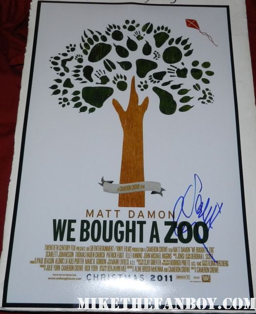 scarlett johansson signed autograph rare we bought a zoo promo mini movie poster cameron crowe matt damon elle fanning rare hot